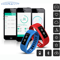Bluetooth Wireless Heart Rate Bracelet Sport Fitness Smart Wrist Band for iOS Android Samsung Huawei Smartphone