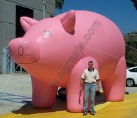 2015 Air balloon, pink pig balloon, giant inflatable pig for sale S2006