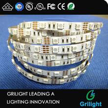 Flexible led strip uv rgb 8mm width 54led/m rgb led strip 5050