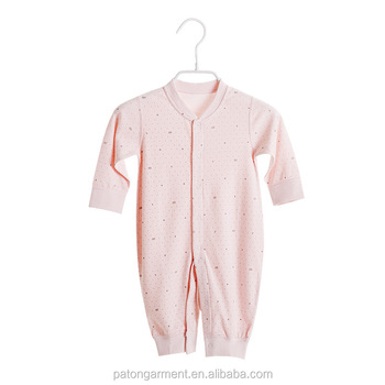 Cheap Wholesale custom 100% cotton seamless stitch baby clothes jumpsuit