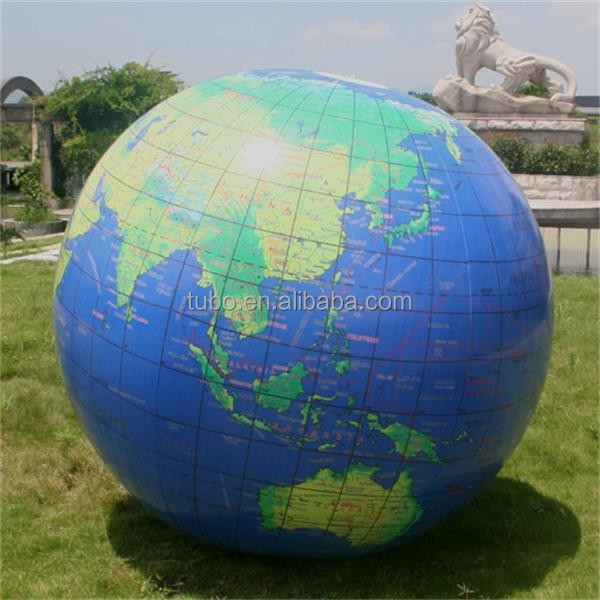 Gaint inflatable world map helium balloon, inflatable earth balloon