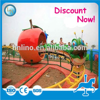 Top popular for kids! Chinese supplier amusement park electric ride on track Apple train for sale