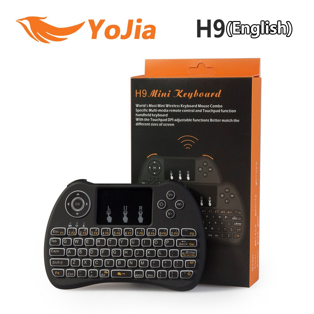 2017 Backlight i8 i8+ H9 2.4G Wireless English Keyboard Backlit with Touchpad for Mini PC Smart TV TV Box Laptop PC