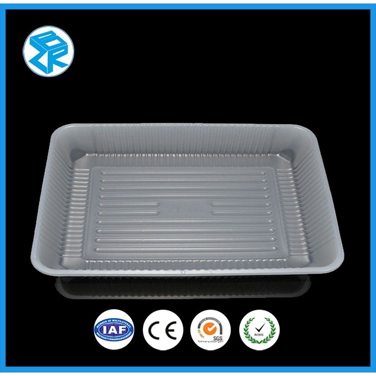 Chocolate And Candy Blister Insert Tray With Lid Black Electronic Plastic Antistatic Compartment
