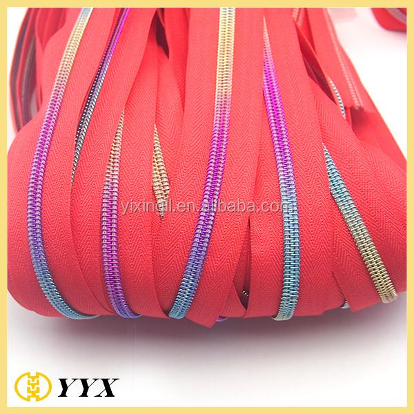 Cheap nylon long zipper nylon zipper manufacturer purple hoodie white zipper
