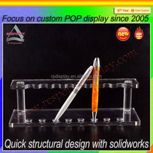 Premium Casting acrylic display Custom Clean Acrylic Pen Display Stand