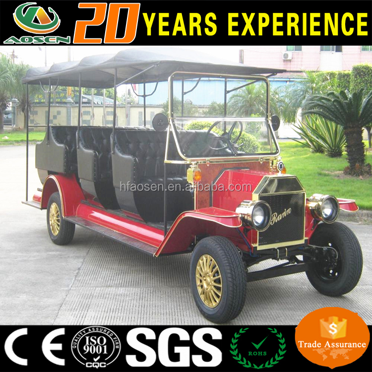 Manufacture 12 seats luxury electric classical golf cart with CE for hotel