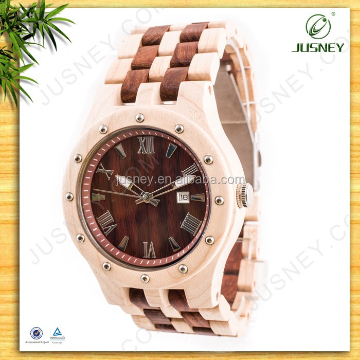 High quality elegant holing wooden watches noble high-end natural western watch for male/female as best gift
