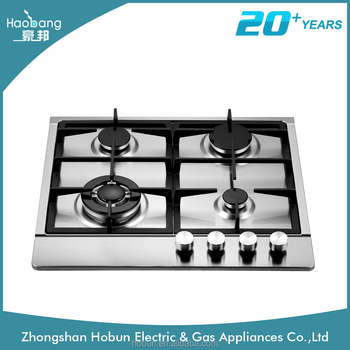 built in 4 burner gas cooktop, stainless steel 4 rings gas cooker