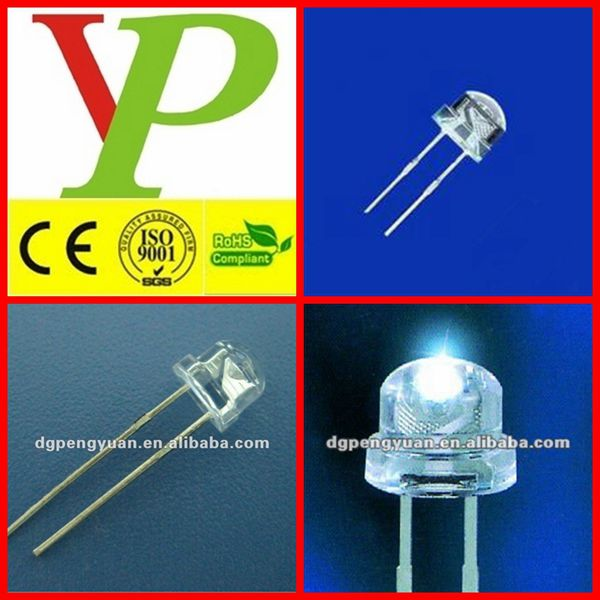 high power white 0.5w led 8mm
