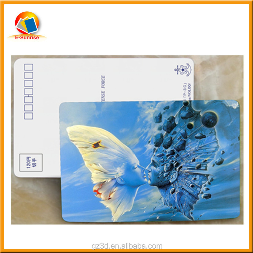 China supplier wholesale deep 3d effect postcard printing for promotions