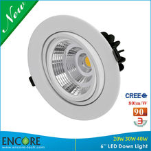 Recessed Downlight Vertical Adjustable Triac Dimming CREE 30W LED Lamp Downlight