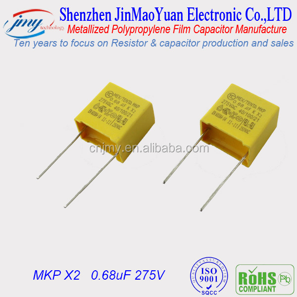 0.68uF 275V MKP X2 Manufacture of Supercapacitor/AC Line Filter Capacitor