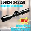 BL4024 3-12x50 china direct manufacturers ar15 high quality real gun equipment weapon sight optic rifle scope for rifles hunting