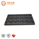 Hot selling 6 cups green circular cake mould with low price