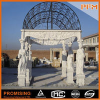 PFM Chinese handmade vivid stone sculpture marble carving bear statue for hotel&villa project design