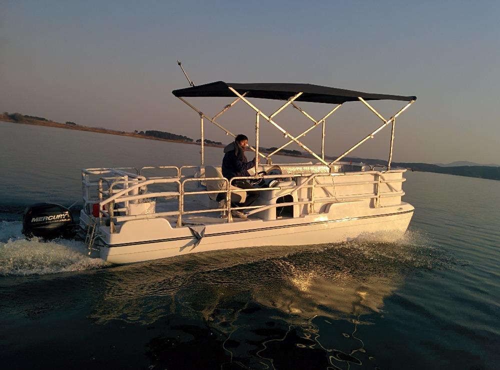 Sanj Cheap Fiberglass Pontoon Small Catamaran Passenger