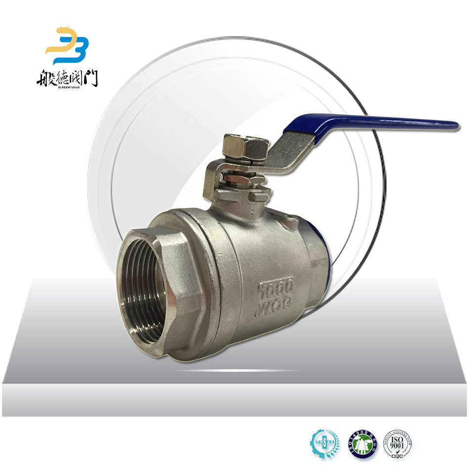 High Performance Exhaust SS304 SS316 Heat Resistant Ball Valve Thread Connection