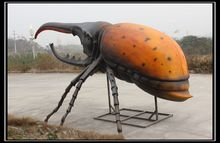 Large outdoor insect sculpture decorative beetle