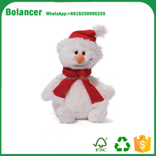 custom plush cute xmas snowman soft toy
