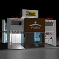 Detian Display offer modular two level/floor show exhibition booth stand construction