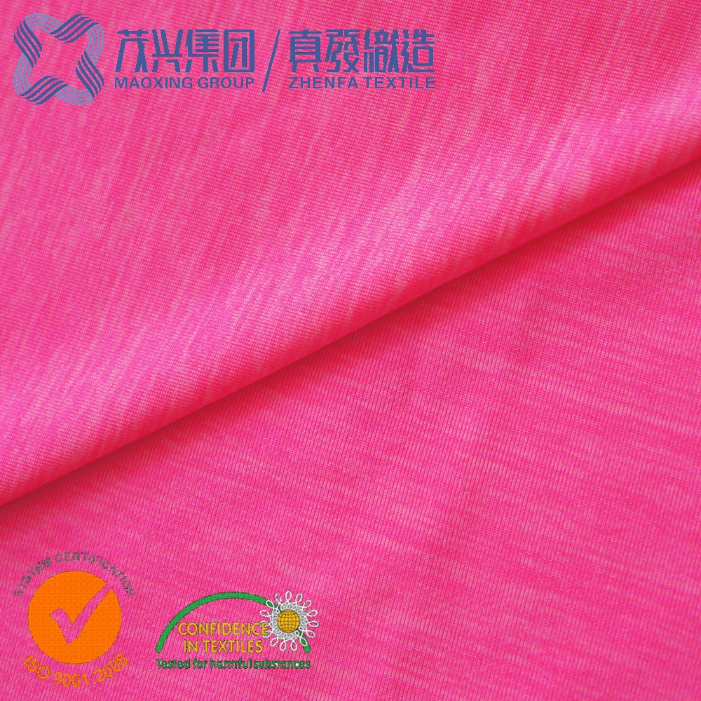 46% Nylon 46.5% Polyester 7% spandex Fabric cheap melange color dye polyester spandex fabric
