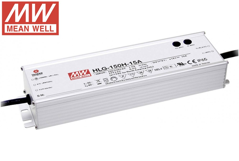 Mean Well 150W Constant Voltage + Constant Current LED Driver 1~10VDC PWM resistance dimmable LED Driver HLG-150H