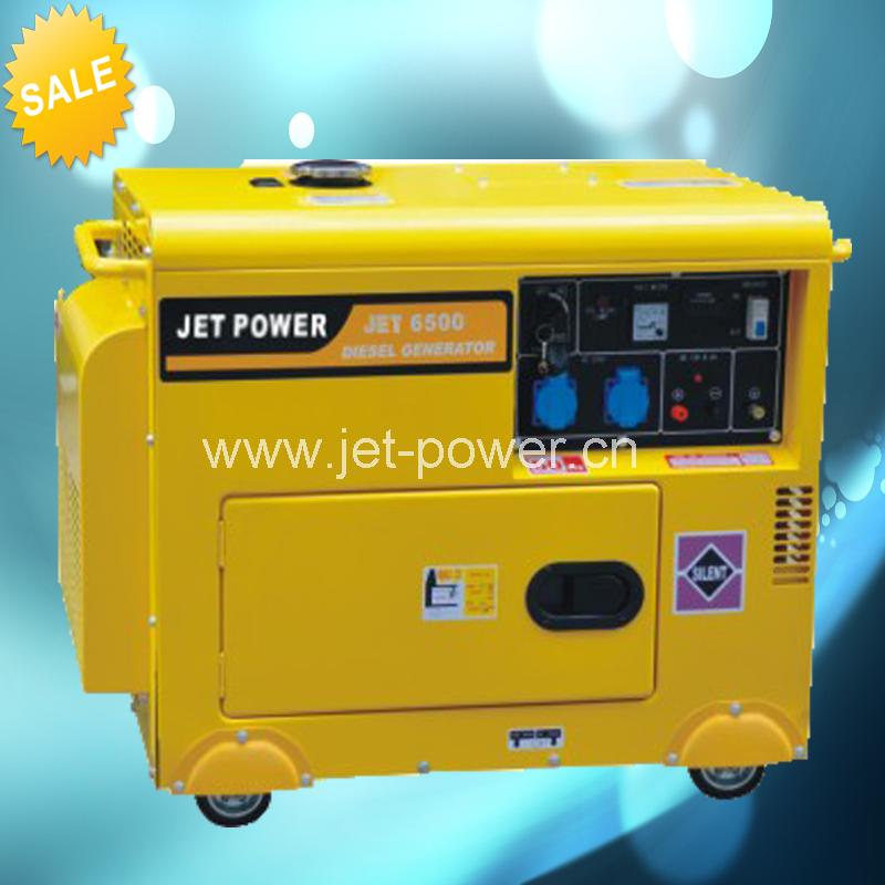 50hz air cooled portable home backup power low noise silent 5kw diesel generator