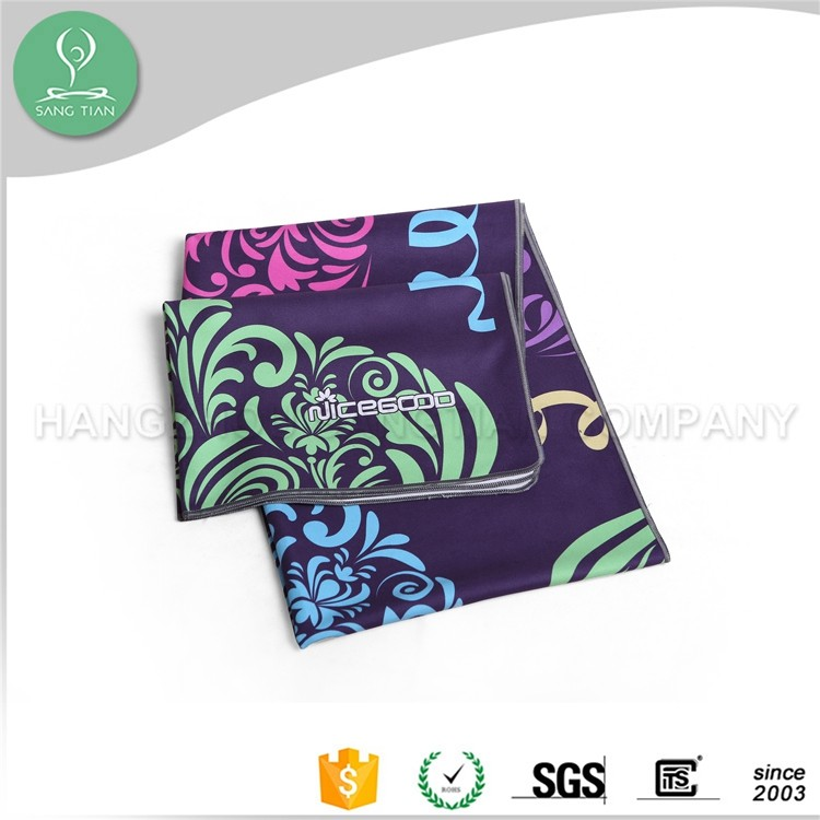 Quality ! Free logo customize printed pattern sweat absorbent fitness yoga towel cover