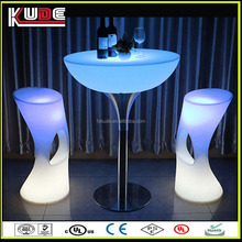 wholesale portable light bar table/ glass top led cocktail table/ coffee tables