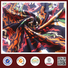 Viscose/rayon spandex printed knitted fabric