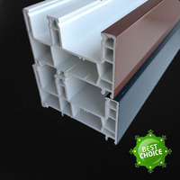 hot sales three rails sliding window extrusion 80 pvc profile
