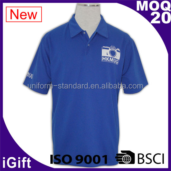 Dry Fit Function Pique Custom Polo Shirt Fabric