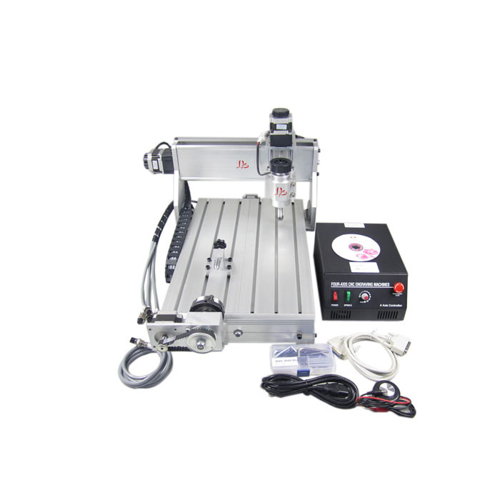 Mini CNC Router 4030Z-DQ 4 Axis CNC Engraving Machine CNC 3040 For PCB & Wood & Soft Metal Working