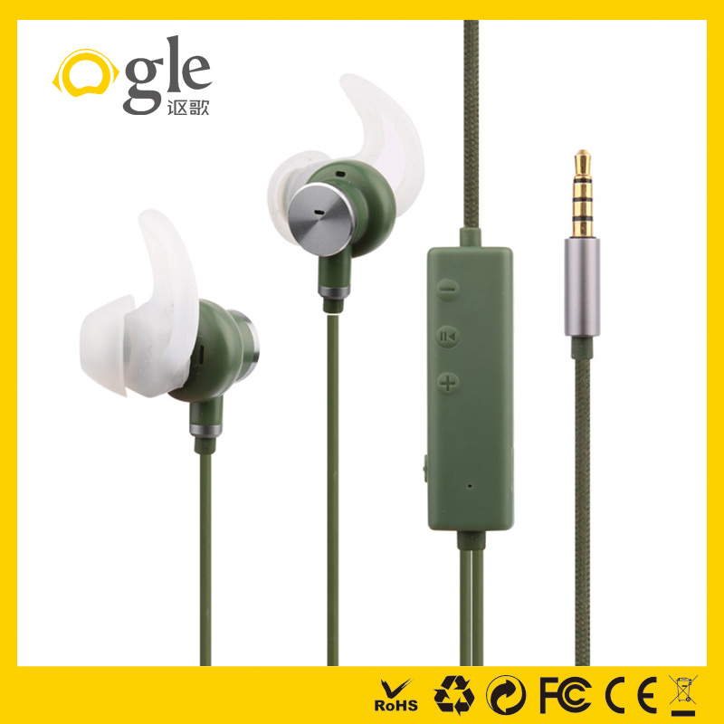 Outdoor active noise cancellation in ear earphone headphone for cars plain