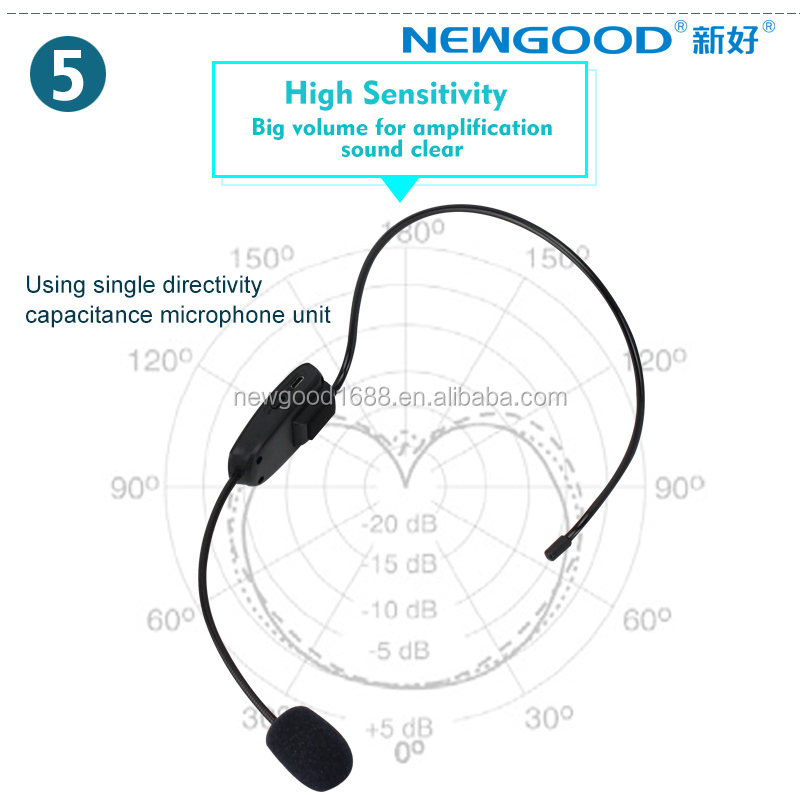FM type wireless headset microphone with mini usb for teaching,classroom