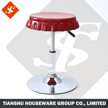 Beer bottle design shape round adjustable round lab stool