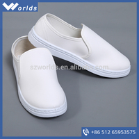 Super Soft White W-A402 Leather ESD Shoes For Workplace Lab