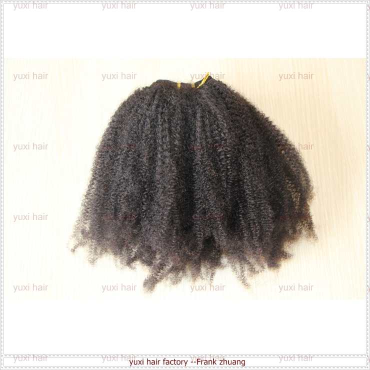 High quality afro kinky curly 100% virgin Brazilian human hair