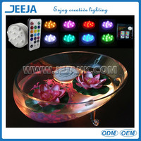 Battery operated multicolor floating led wedding lights base for glass vase/table setting decoration