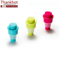 bar accessories vacuum silicone rubber wine bottle stopper