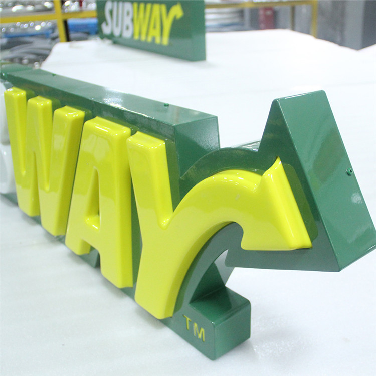Customized decorative subway led <strong>sign</strong> in factory price