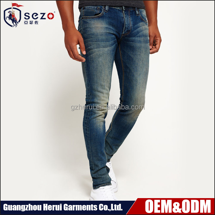 High Quality Custom Man Jeans Trousers Top Selling Fashion Denim Jeans Pants For Men