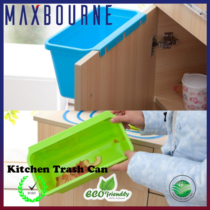 2016 hot selling plastic kitchen hanging trash can colorful kitchen trash can
