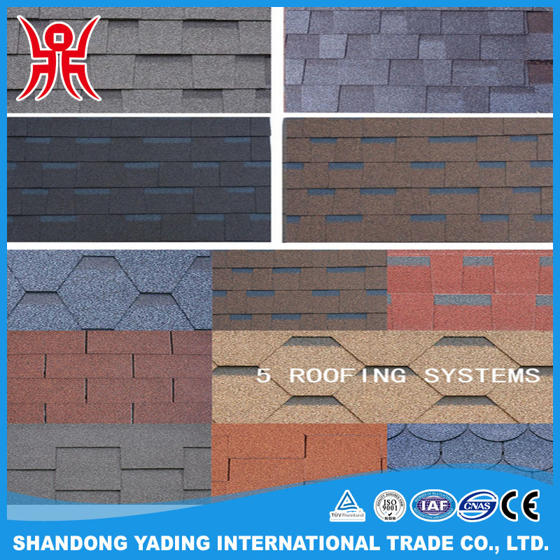 2016 blue roofing shingles colorful asphalt shingles light weight roof tiles