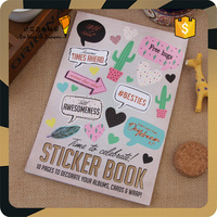 Factory Hot Sale Message Cards Book Decoration Sticker Books, Paper Stickers Wholesale