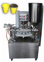 guangzhou packing machine KIS-900 Rotary pastic water yogurt cup filling sealing machine
