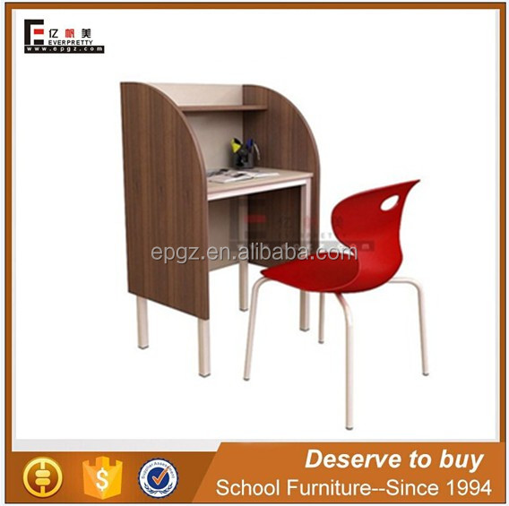 American style reading table desk,junior book reading desk with screen