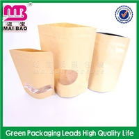 advertising logo customized craft paper bags with window wholesale