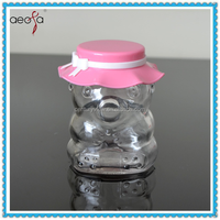 Screw Cap Glass Container Animal-shaped Glass Sweet Jar